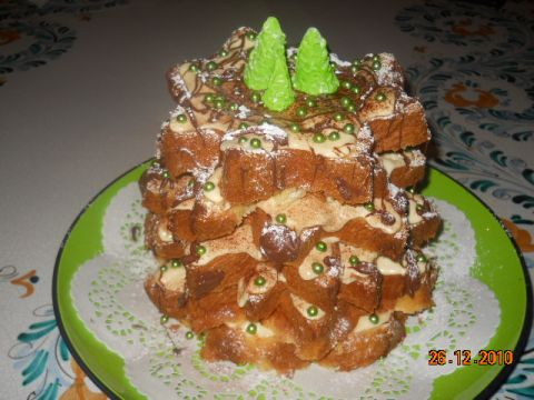 Buffet Natalizio Cookaround : Dolci natalizi originali: lalbero di pandoro my today special
